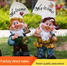 Resin dwarf craft garden gnome statue dwarf welcome dwarf figure