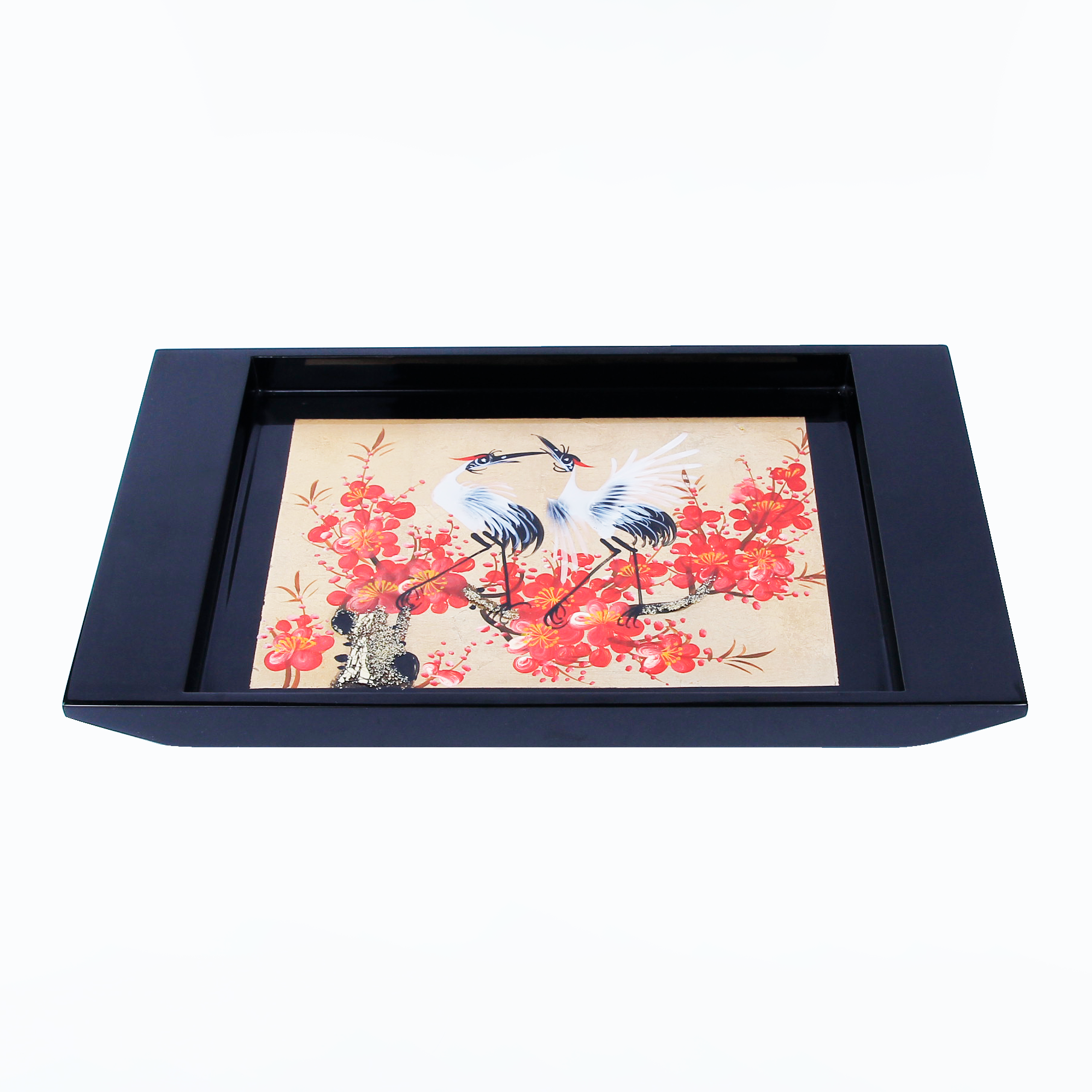 Vietnamese Custom High Quality Authentic Lacquer Tray Multi Purpose Wooden plate