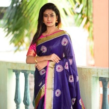 <span class=keywords><strong>Pure</strong></span> Designer Ruwe <span class=keywords><strong>Zijde</strong></span> <span class=keywords><strong>Saree</strong></span>
