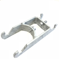 hot dip galvanized traffic sign mounting brackets for 60mm post