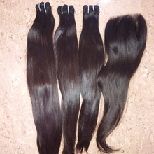 Silky shinning soft smooth single bend หยัก, Silky straight human hair weaves