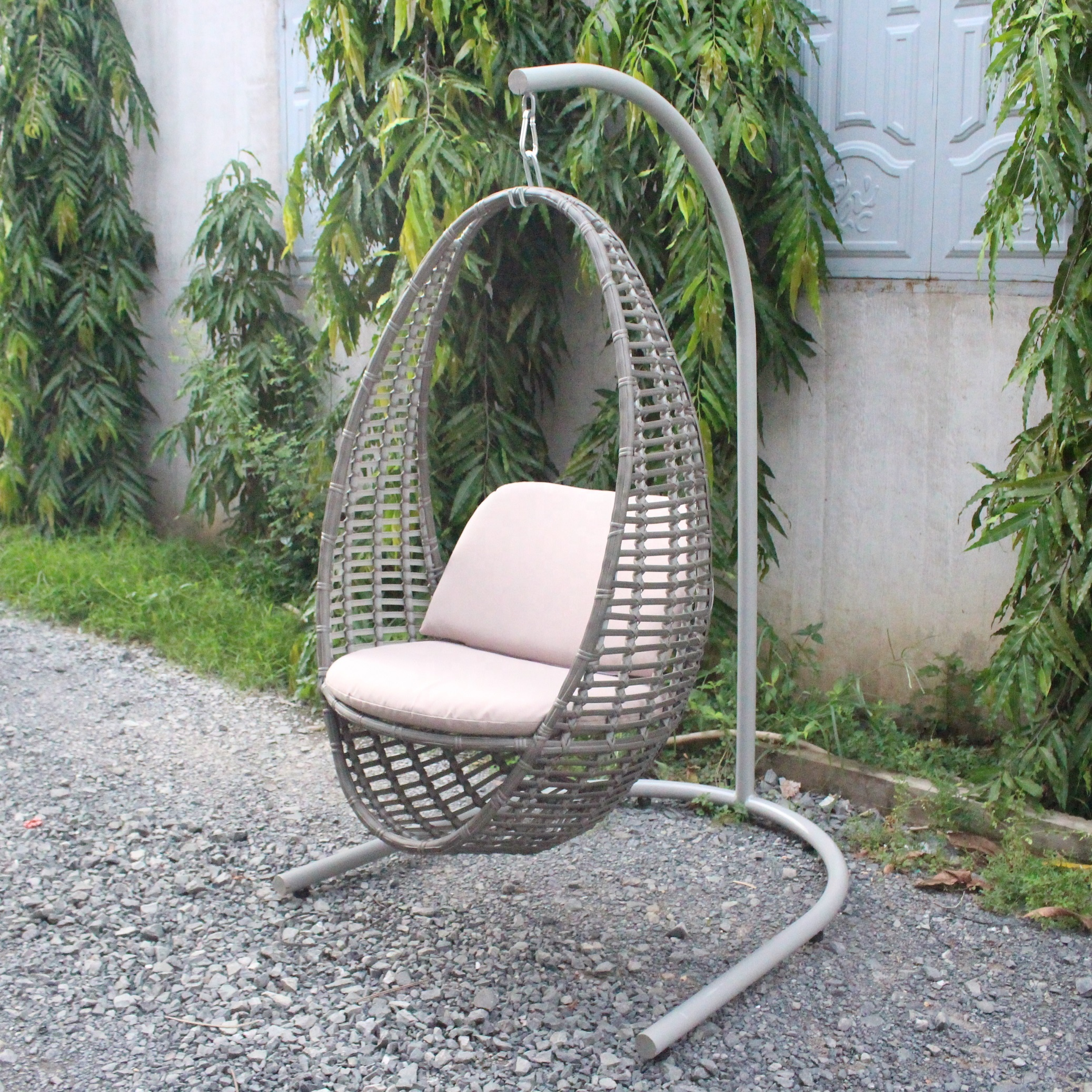 Wicker Pe Rattan Swing Egg Hanging Chair Uv Pe Outdoor Rattan Swing Egg Chair High Quality Steel Frame Buy Outdoor Swing Chair Wicker Hanging Swing Chair Patio Swing Egg Chair Product On Alibaba Com