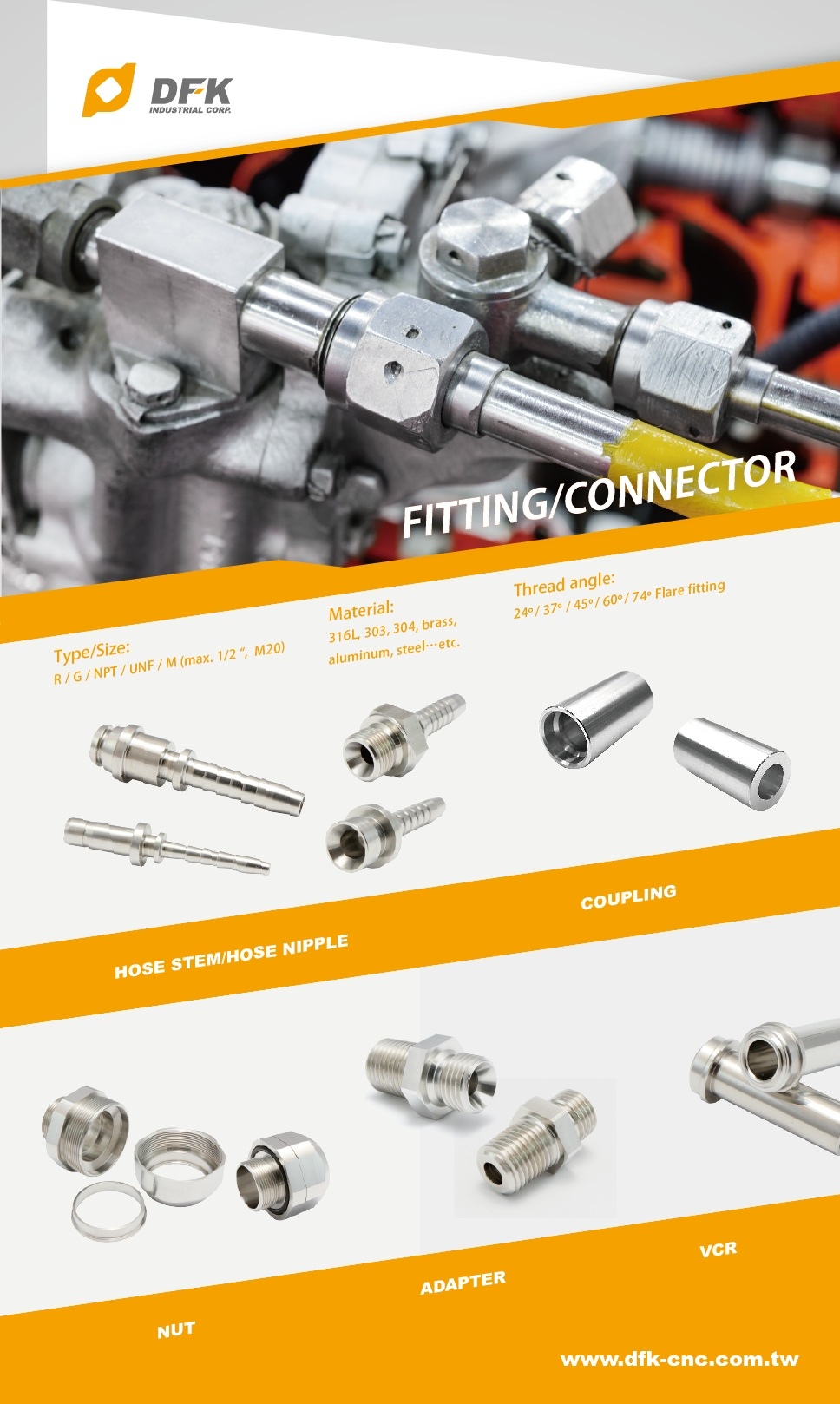 CNC Tuinslang Connector Hydraulische Onderdelen Fittings