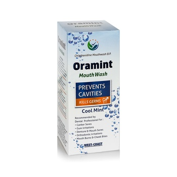 Oral Care ProductORAMINT MOUTH WASH WITH CHLORHEXIDINE MOUTHWASH BP For Prevents Cavities