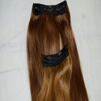 20 INCHES CUTICLE ALIGNED CLIP ON HAIR EXTENSIONS WITH NO SHEDDING OR TANGLING