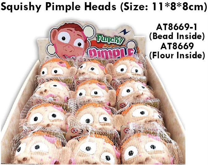 Squishy Pimple Heads With Bead