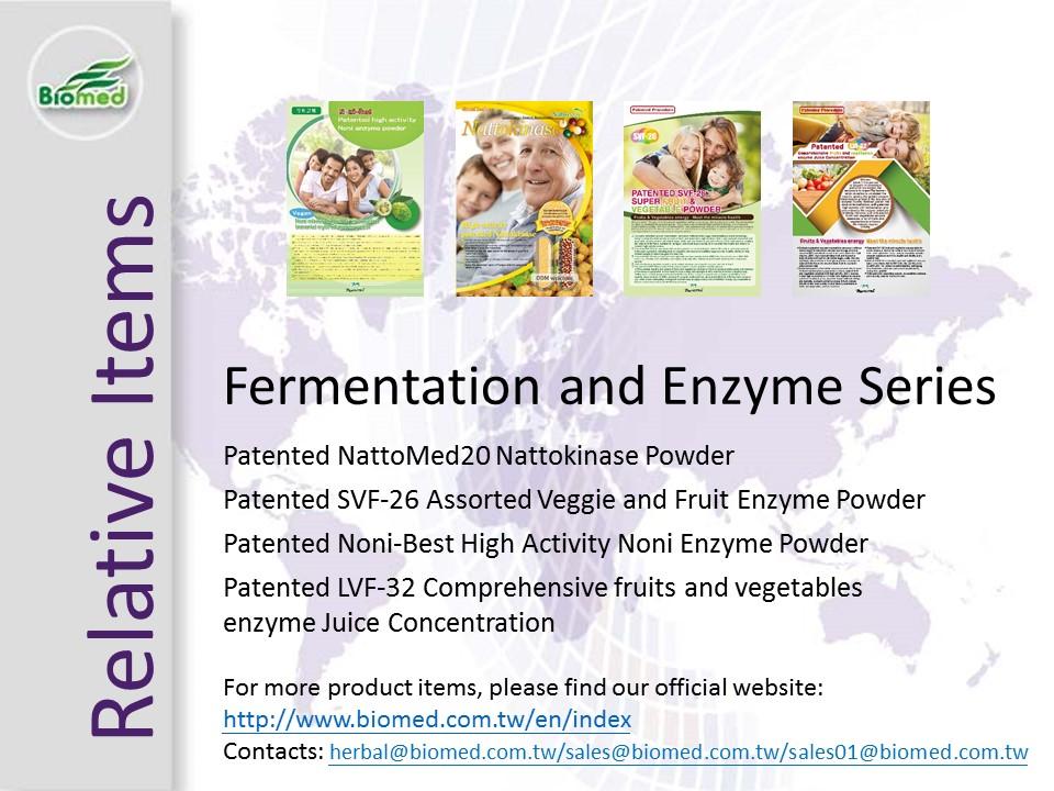 Lutte externe antioxydant naturel anti infectieux l'efficacité métaboliser brevet fruits et légumes enzyme poudre de fines herbes