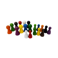 Colorful Wooden Pawn Mixed;chess pieces wood/play ludo game/board game pawns
