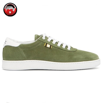 Men,Olive Green Suede Sneakers Shoes