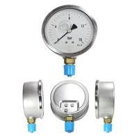 High quality stainless steel 3inch lower entry industrial pressure gauge