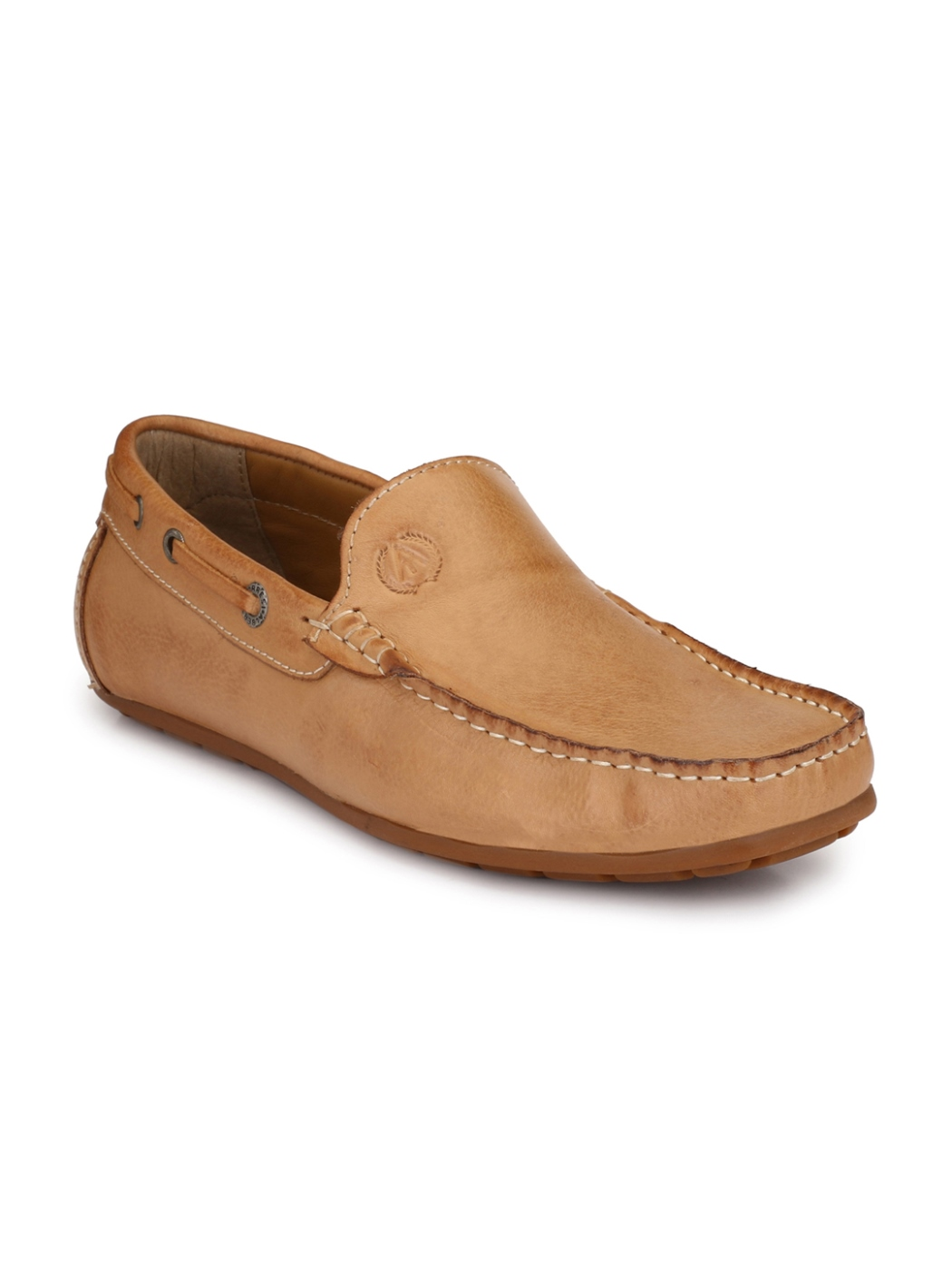 best quality men leather loafers shoes anti slip sole classic brown color