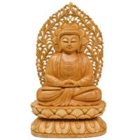 Wooden Handicraft Wooden Sitting Lord Buddha Idol Statue Large