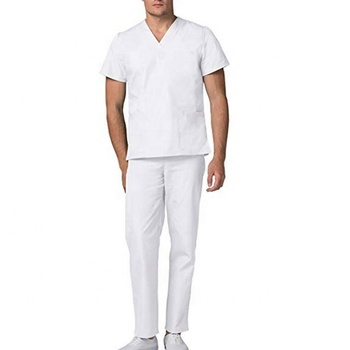 White scrub suits for men & women, hospital suits in low price