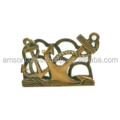 Nautical Anchor Design Metal Brass Letter Holder Office Desk Visiting Card Holder