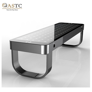 NZ/AUS Customize Color Light Weight Smart Solar Bench for Park