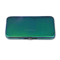 Multi Shade of Green & Blue Colors Empty Eyelashes Tweezers Empty Lash Boxes Tweezers Magnetic For 3 & 6 Pieces Tweezers Cases