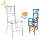 wholesale wedding transparent chair and event acrylic crystal ice stacking clear resin chiavari chair