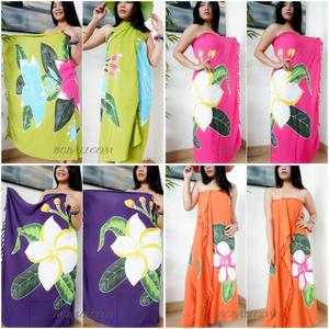 Bali Batik Rayon Sarongs Hand painting Flower Tropical Design Beachwear Best Quality Pareo Wholesale Price