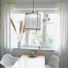 Suitable for use in hotel bedrooms AY lighting modern minimalist style creative bamboo pendant lamp Fabric chandelier