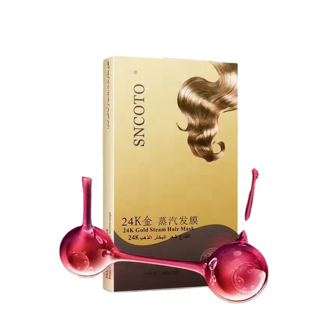 Hot sale 24K Gold Steam hair sachet in a baghair for woman