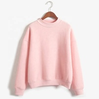 Good Quality Pink color Ladies loose sweatshirt
