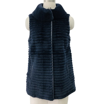 2020 Winter Wholesale Real Rex Rabbit Fur High Quality Warm Soft Gilet Vest Waistcoat