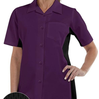 Executive Style Chef Shirts Chef Uniforms Quick Production Low MOQ Women Kitchen Shirts Button Front Closure