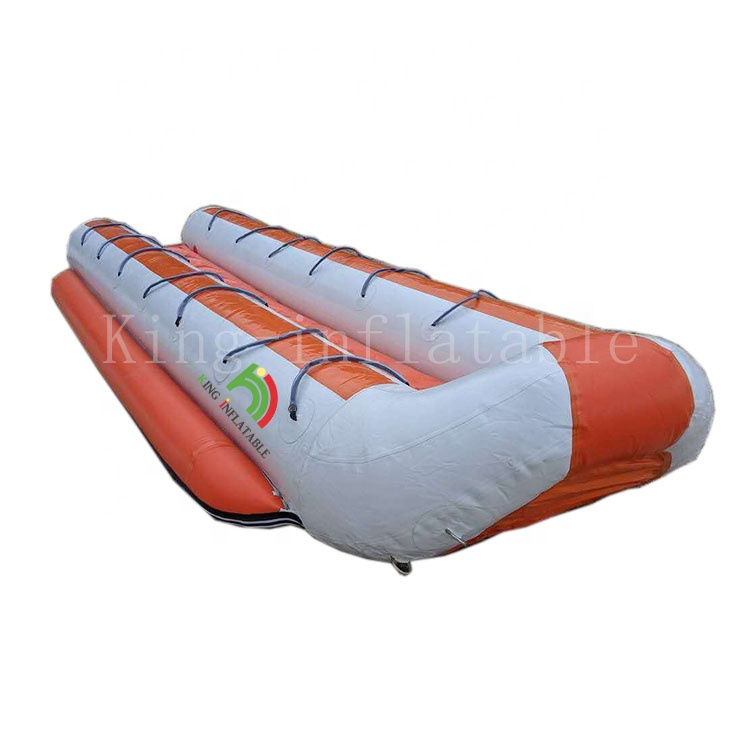 New Design Customized Commercial Double Row 14 Seats Inflatable Banana <strong>Boats</strong> 2019