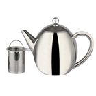 Chinese Wholesale Fda Double Wall Stainless Steel Tea Pot Silver Restaurant Teapot