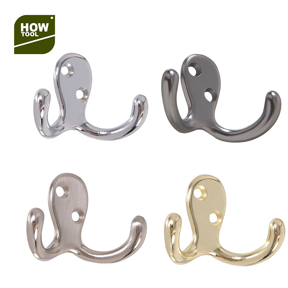Decoration Metal Wall Mount Towel Coat Double <strong>Hook</strong>