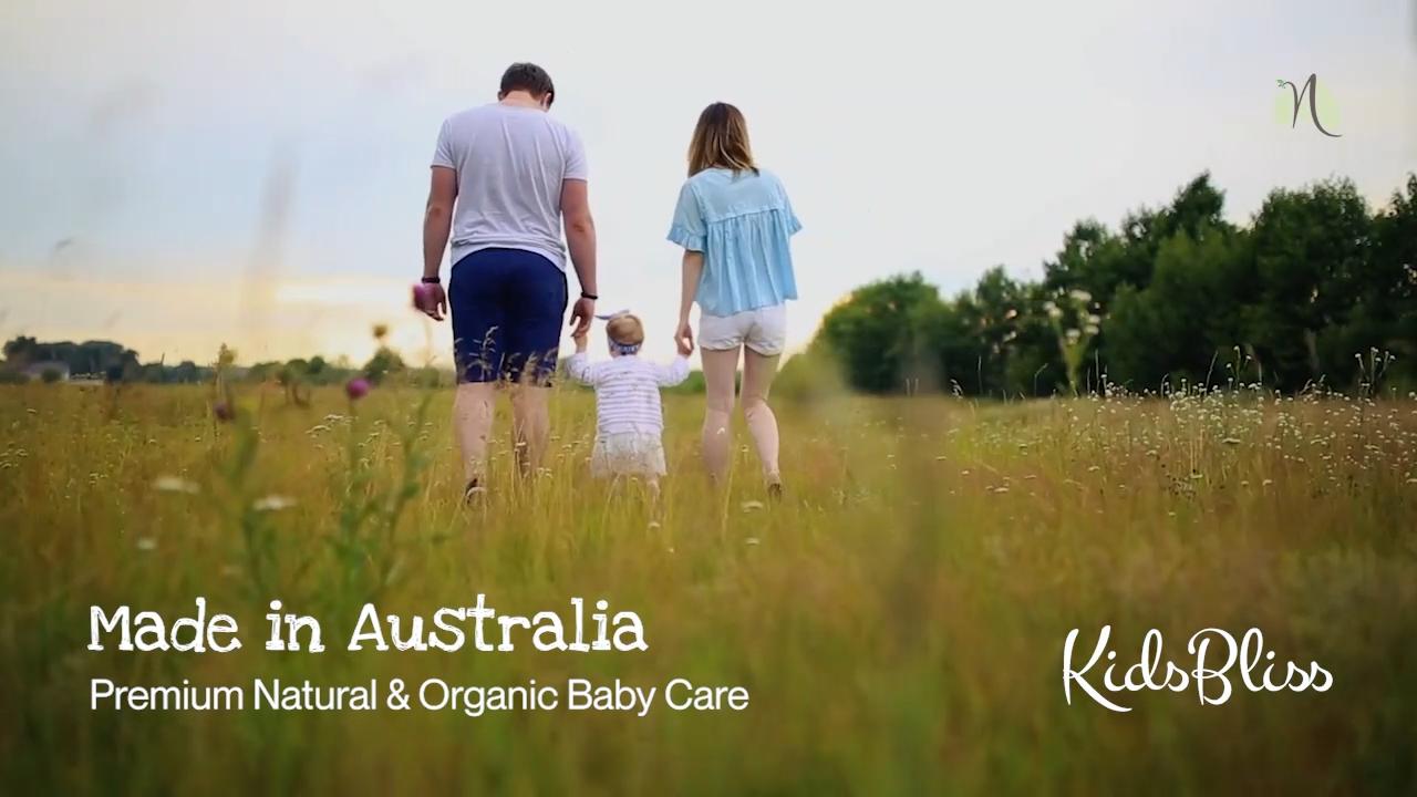 Organic Baby Moisturizer Lotion Aloe Vera Kidsbliss 150ml- paraben free Natural Ingredients Made in Australia