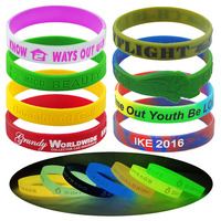 custom rubber wristbands, glow in the dark silicon bracelet, wrist band customized