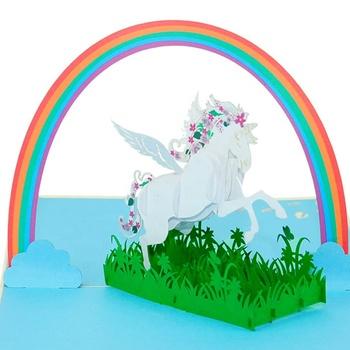 Unicornio Fiesta Invitación Invitación Fiesta De Cumpleaños Para Los Niños Tarjeta De Felicitación 3d Buy Tarjeta De Felicitación 3d Tarjeta De