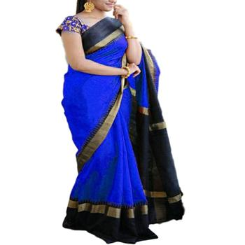 Indian Designer Embroidery Work Blue Colour Ethnic Bhagalpuri Traditional And Wedding Wear Party wear Saree