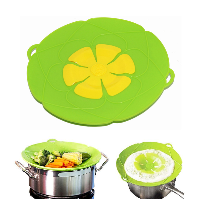 New Eco-friendly Multi-Purpose Lid Cover and Spill Stopper Silicone Pot Lid