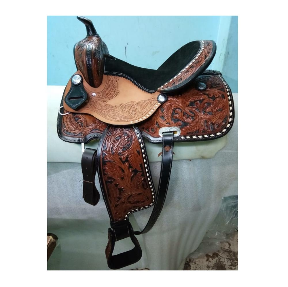Barrel Western Saddle ขี่