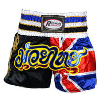 Muay Thai Shorts Satin UK Flag Martial Arts Muay Thai Kickboxing Shorts, muay thai shorts, wholesale muay thai shorts