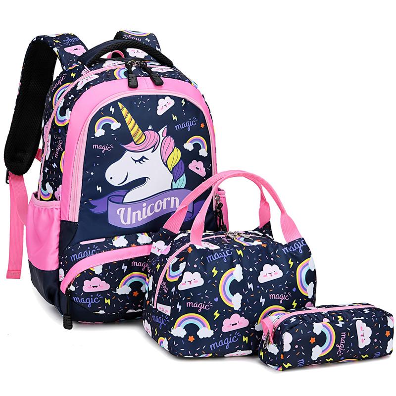 adolescentes+bolsa de almuerzo Mochila escolar para niños estuche,impermeable