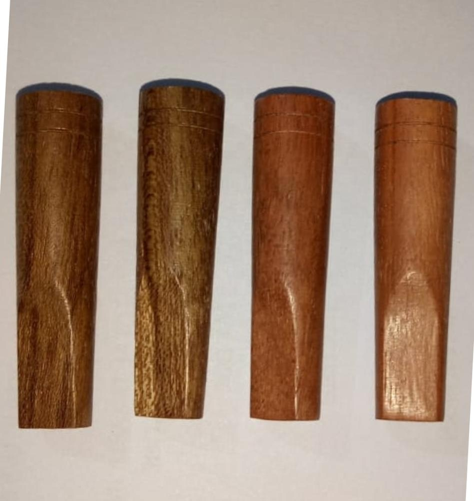 11x38mm Round End Wooden Cigar Tips for Pre Roll Smoking Tips wooden blunt tips Brown Leaf pre rolled cones and blunts