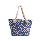 Custom Printed Souvenir Flower Design Shopping bag Woman Canvas Beach Handbag