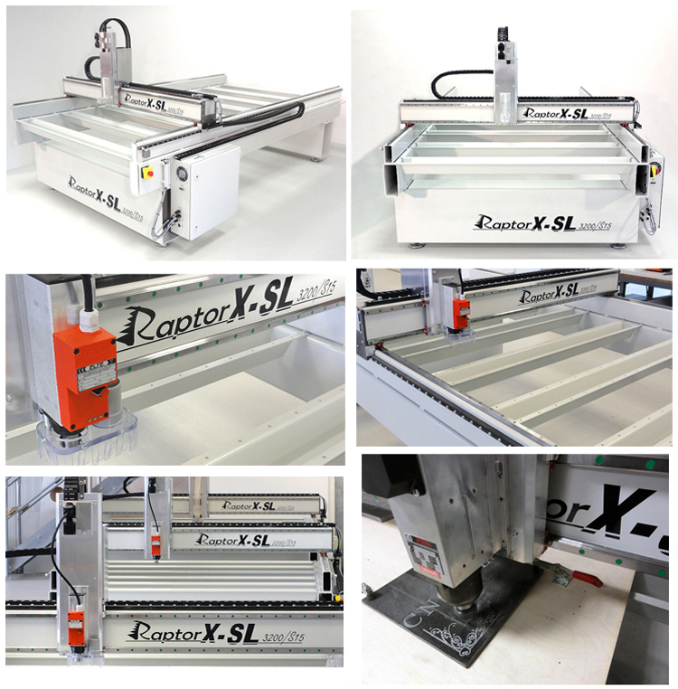 RaptorX-SL3200/S15 CNC Máquina De Gravura Em Metal Made in Germany