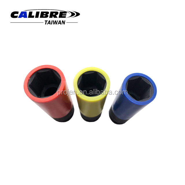 "CALIBRE 3pc 1/2"" dr Thin Wall Wheel Nut Impact Socket Set Wheel Nut Lug Nut Deep Impact Socket Set"