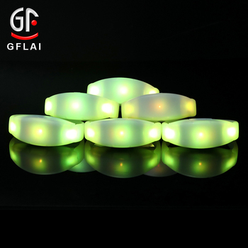Led Party Bangle Silicone LED Light Up Bracelet Activated Glow In Dark Silicone Wristband