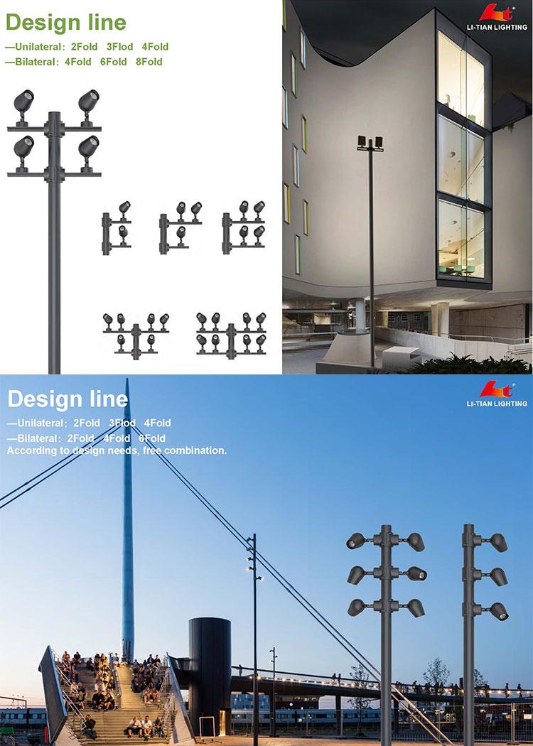LED garden lighting pole light IP65 European style garden lamp uesd for Led Bollard Light
