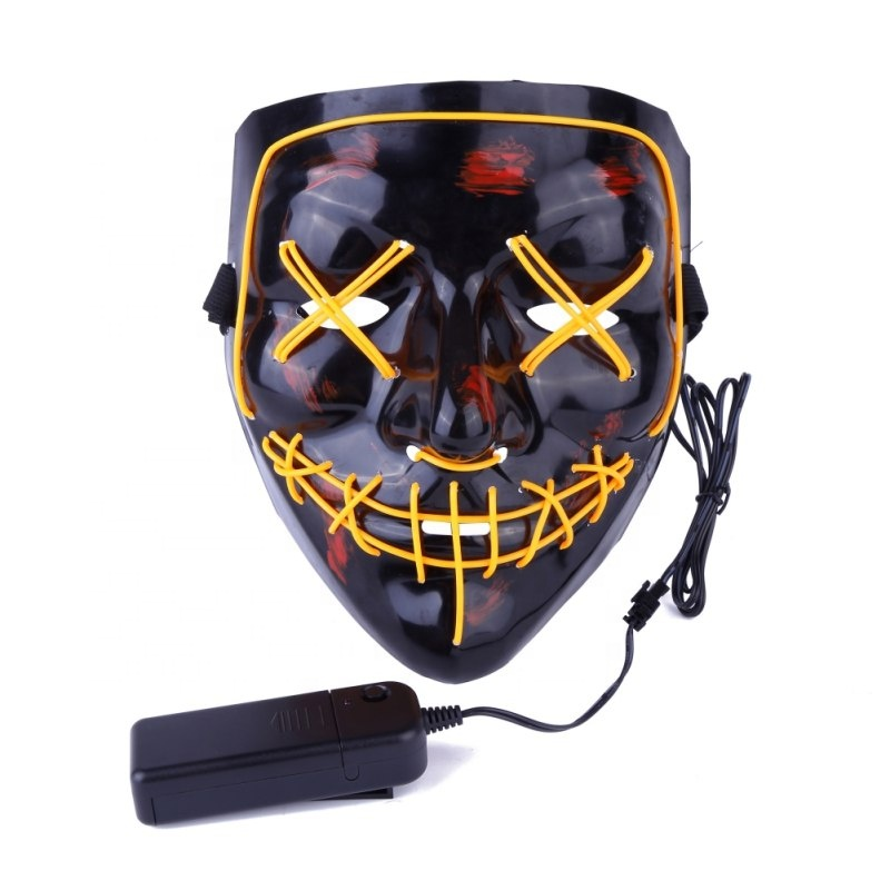 <strong>Halloween</strong> Cosplay Portable Wholesale Funny <strong>Mask</strong> <strong>Custom</strong> Festival Party Purge <strong>Mask</strong> Led <strong>Halloween</strong> <strong>Mask</strong>