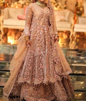 Latest Design Beautiful Indian/Pakistani Floor Length Dress with Heavy Zardozi embroidery for Wedding -2019