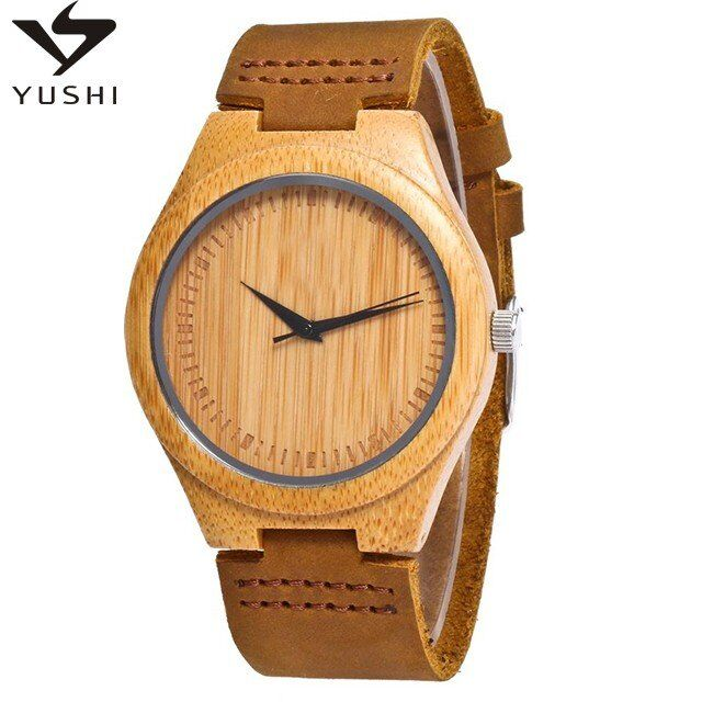 2020 calidad de bambú reloj gratis grabado bajo MOQ madera reloj movimiento de Japón al por mayor