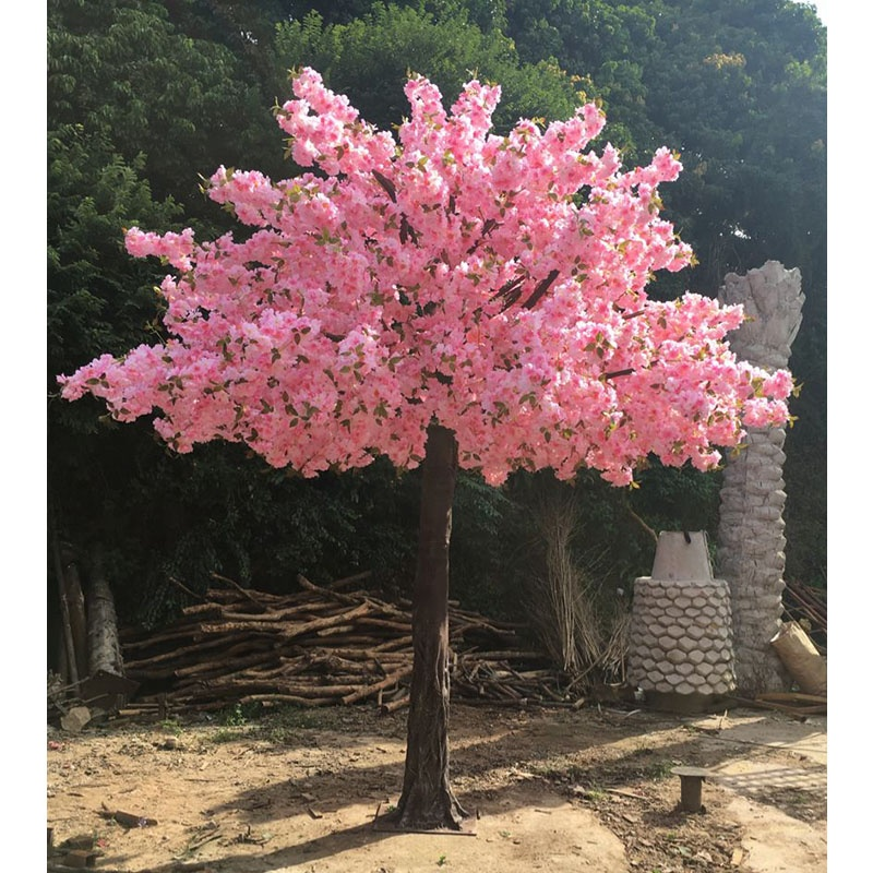 500cm height artificial pink japanese cherry blossom,  large fiberglass cherry blossom tree for sale