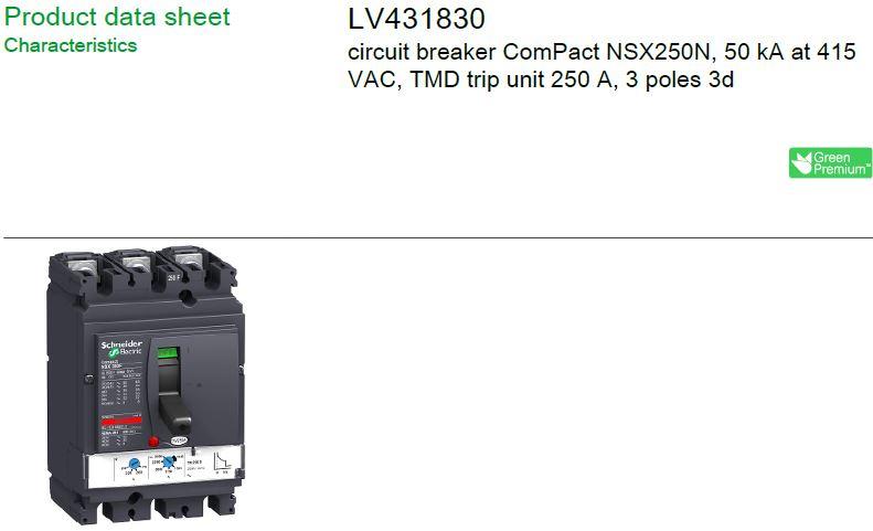 ONE NEW breaker LV431830