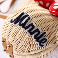 Hot sale Minnie Mouse Handmade Rattan Backpacks
